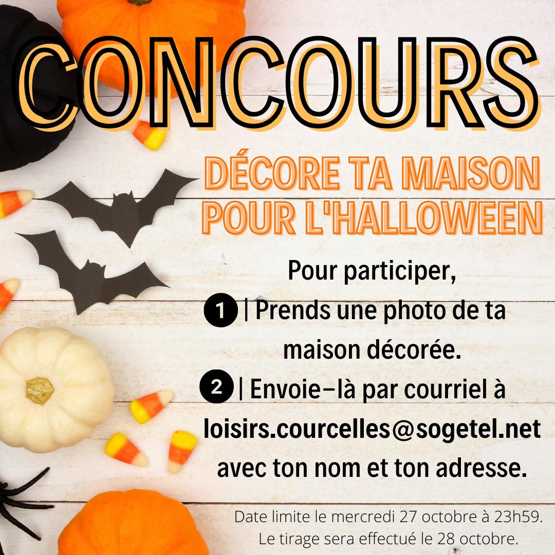 CONCOURS   DÉCORE TA MAISON POUR L'HALLOWEEN