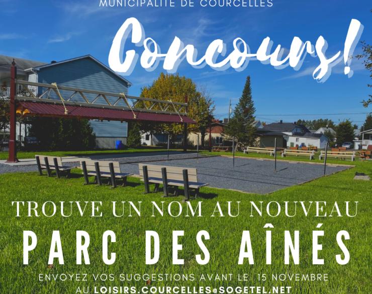 CONCOURS   NOUVEAU PARC DES AÎNÉS